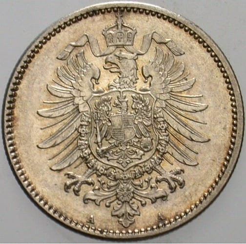 Kleinmünzen 1 Mark 1874 A Vorzüglich Stempelglanz