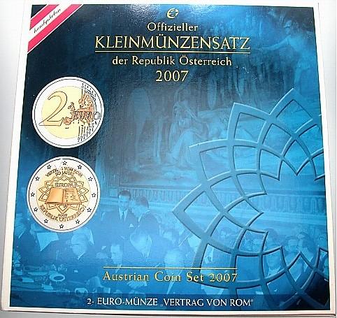 österreich 388 Eurokursmünzensatz 1 Cent 2 Euro 2007