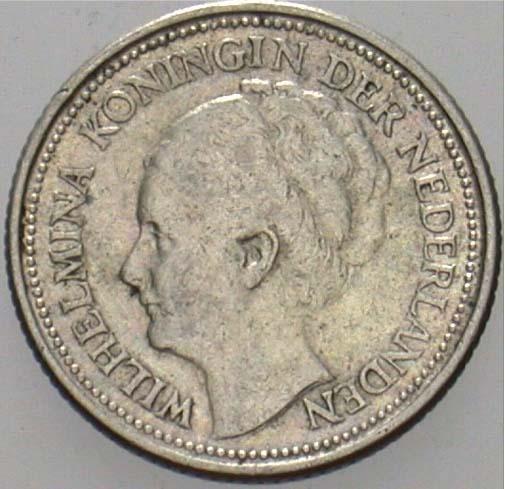 Niederlande Königreich 10 Cent 1934 Sehr Schön